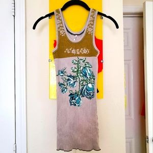 Free People   Ribbed Floral Tank